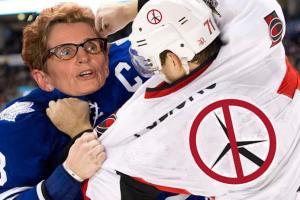 Hockey Fight Wynne