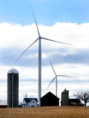 Wind turbines in the town of Glenmore in southern Brown County. (Photo: H. Marc Larson/Press-Gazette Media/@HMarcLarson )
