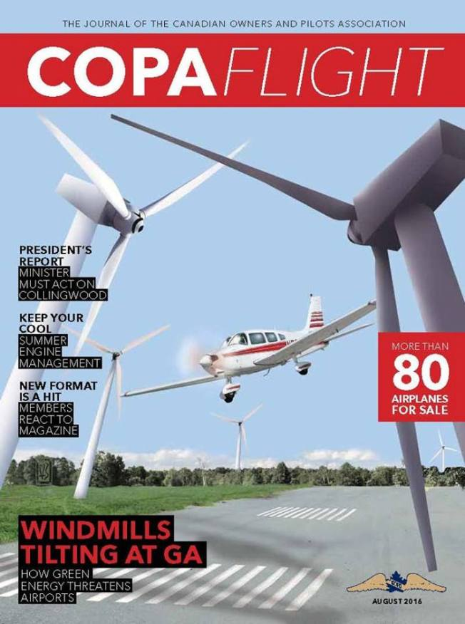 copa tilting at wind turbines