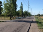 Guardrails and massive hydro poles & transmission lines of Niagara Wind