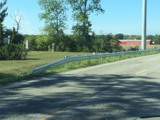McCaffery Cemetry Niagara Wind Guardrail now cut to allow access
