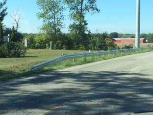 McCaffery Cemetry Niagara Wind Guardrail now cut to allow access