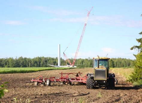 tractor and turbine