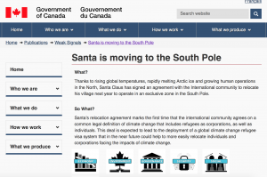 santa moving to south pole