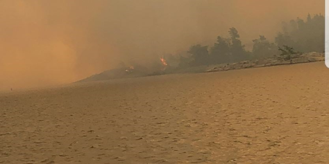 Fire 33 Parry Sound, Key River area. Fire started on Henvey Inlet Territory Photo. Key River Association