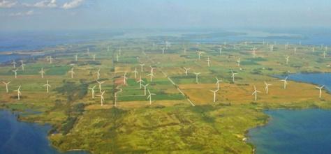 wolf island wind turbines